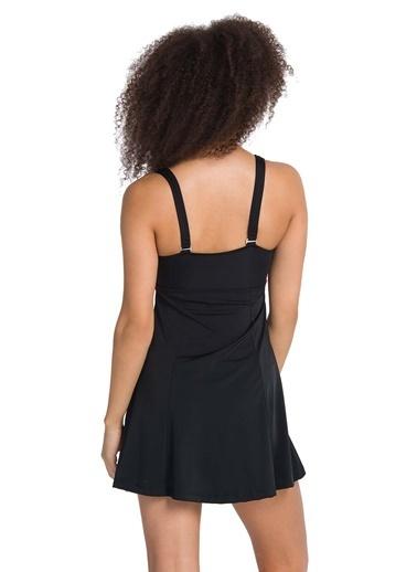 Dagi V Yaka Elbiseli Mayo Siyah
